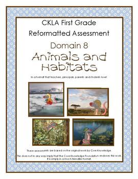 First Grade CKLA Domain 8 Animals and Habitats Alternative