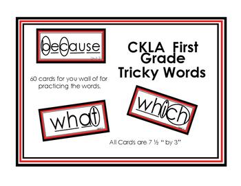 First Grade CKLA Tricky Words