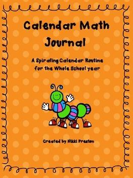 First Grade Spiraling Calendar Journal Calendar Routine Co