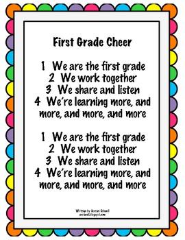 First Grade Cheer