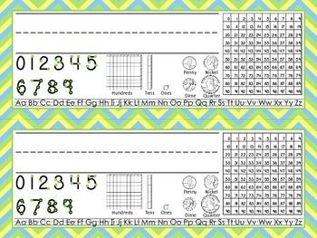 First Grade Chevron Desk Tags