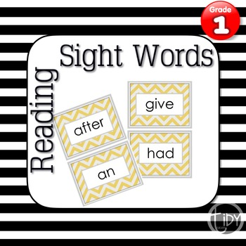 First Grade Chevron Sight Words