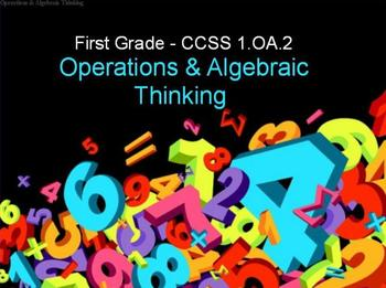 First Grade Common Core 1.OA.2 Operations & Algebraic Thinking