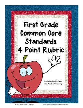 First Grade 4 Point Rubrics