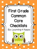 First Grade Common Core Checklists