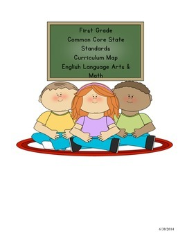 First Grade Common Core English Language Arts AND Math Cur