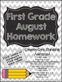 First Grade Common Core Homework - August