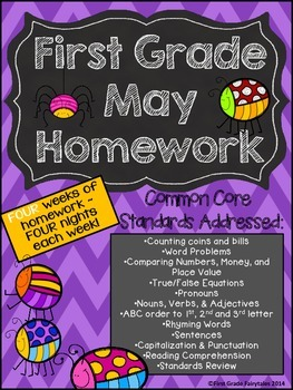 First Grade Common Core Homework - May