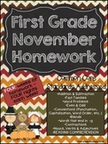 First Grade Common Core Homework - November