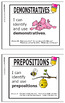 """1st Grade Language """"I Can"""" Posters"""