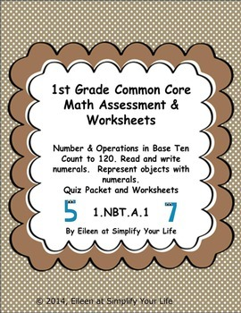 First Grade Common Core Math Assessment & Practice Sheets