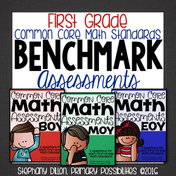 First Grade Common Core Math Assessments- Benchmark Assess