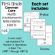 First Grade Numbers and Operations Common Core Math Assessments