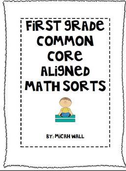 First Grade Common Core Math Sorts
