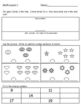 First Grade Common Core Math Spiral Worksheets and Homewor
