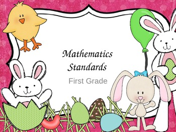 First Grade Common Core Math Standards For Wall- Easter