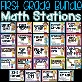 First Grade Common Core Math Stations for the Year!