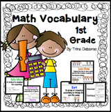 Math Focused Academic Word Wall for First Grade