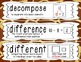 First Grade Common Core Math Vocabulary Word Cards - Giraf