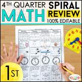 1st Grade Math Homework 1st Grade Morning Work for 4th Qua