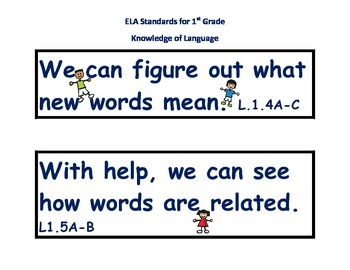 Common Core Learning Standards For First Grade