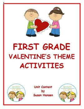 Valentine's Day First Grade Activities