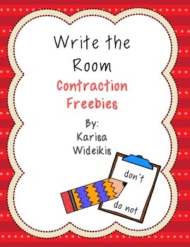 First Grade Contraction Freebie