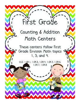 First Grade Counting and Addition Centers (Envision Math 1