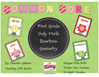 First Grade Daily Math Questions: Common Core & Differentiated