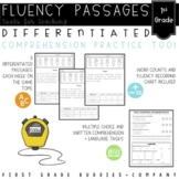 First Grade Differentiated Reading Passages with Comprehen