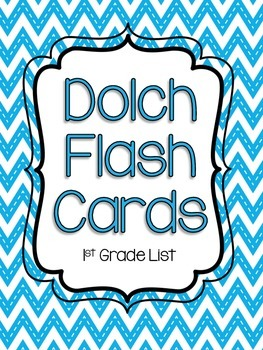 First Grade Dolch Flash Cards