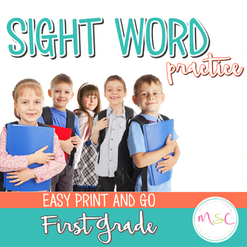 Dolch Sight Word Practice 1st Grade