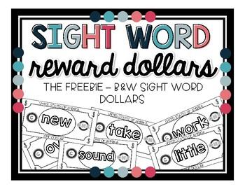 Sight Word Dollar Freebie