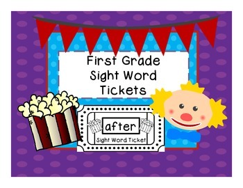 Dolch Sight Word Tickets: 1st grade