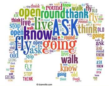 First Grade Dolch Sight Words (Word Cloud - Elephant Shape)