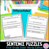 First Grade Dolch Words Sentence Puzzles