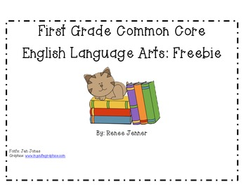 First Grade ELA CCSS