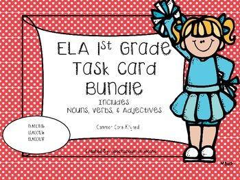 First Grade ELA Task Card Bundle - Common Core Aligned