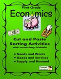 Economics Foldable w/ PowerPoint, Vocabulary, and Sorting