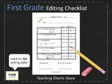 First Grade Editing Checklist for Writing Workshop