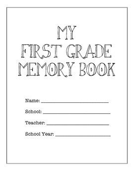 First Grade Memory Book
