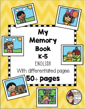 First Grade End of the Year Memory Book in English and Spanish