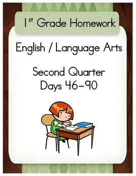 First Grade English / Language Arts Homework for the Secon