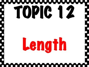 First Grade Envision Math  Topic 12 Length Focus Wall