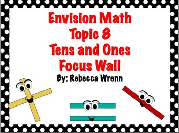 First Grade Envision Math Topic 8 Tens and Ones Focus Wall