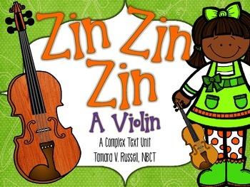 First Grade Exemplar Text Close Reading Lessons:Zin! Zin!
