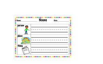First Grade First Time Learning Nouns - Grammar