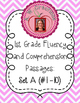 First Grade Fluency and Comprehension Passages Set A (Pass