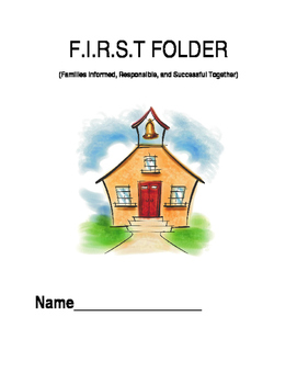 First Grade Folder Cover Inserts