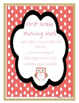 First Grade Fountas & Pinnell Sight Word Morning Work-Comm